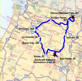 HogBlog NW Rides - Map of northwest us national parks