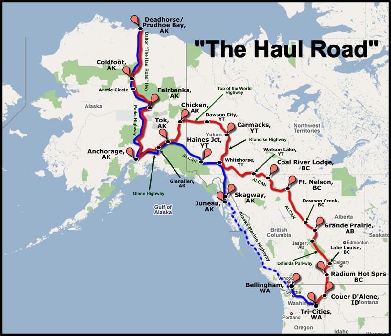 Dalton Highway Haul Road Hmans HogBlog - Alaska road map