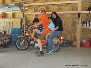Blue, Michael, Boon, and Jatu: They actually ride this way