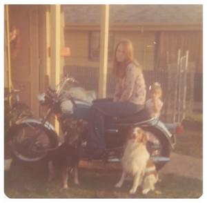 1973 stock Triumph motorcle